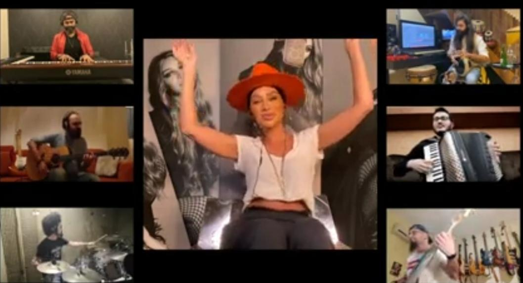 لقطة من البث المباشر لحفلة مايا
