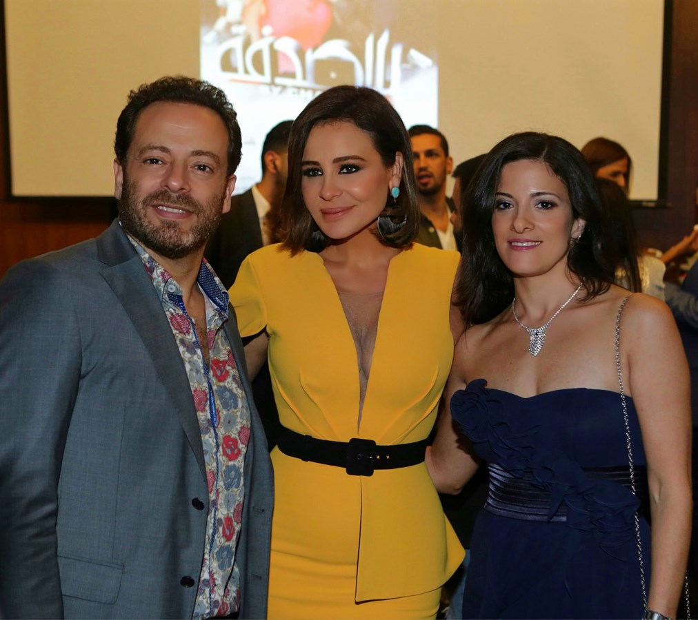 خلال افتتاح فيلم بالصدفة في بيروت