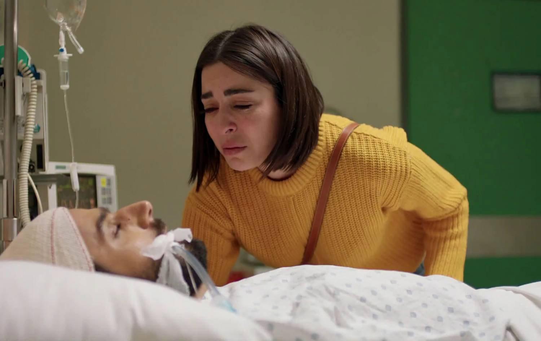 ناهي وديانا في مشهد المستشفى