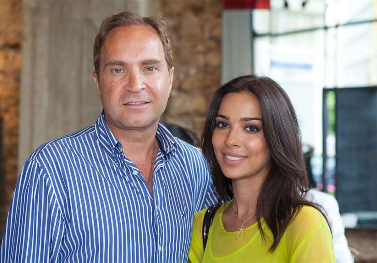 نادين نجيم وزوجها السابق