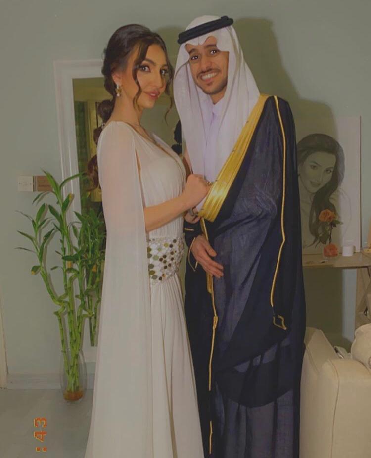 صورة من زواج عايض وهبة