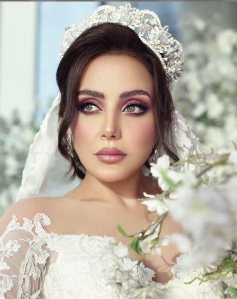 زينب فياض بفستان الزفاف