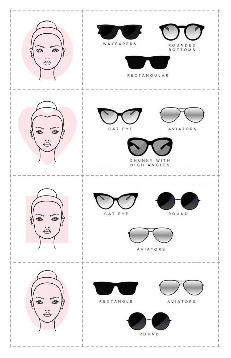 اختاري النظارات الشمسية حسب شكل وجهك