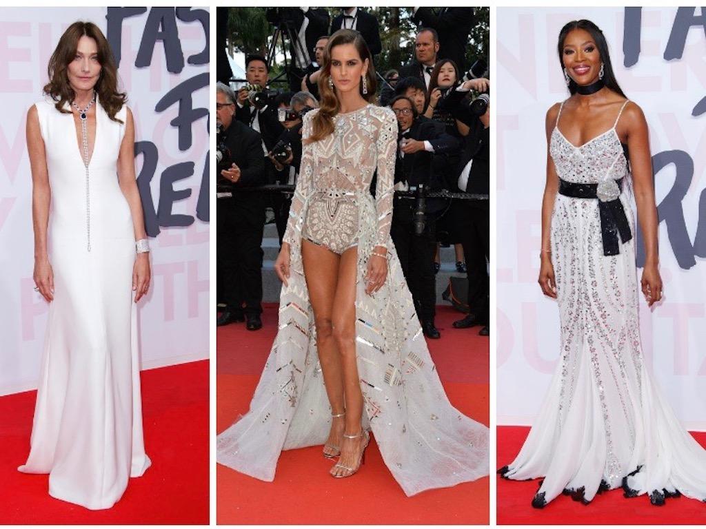 عارضات أزياء اخترن اللون الأبيض