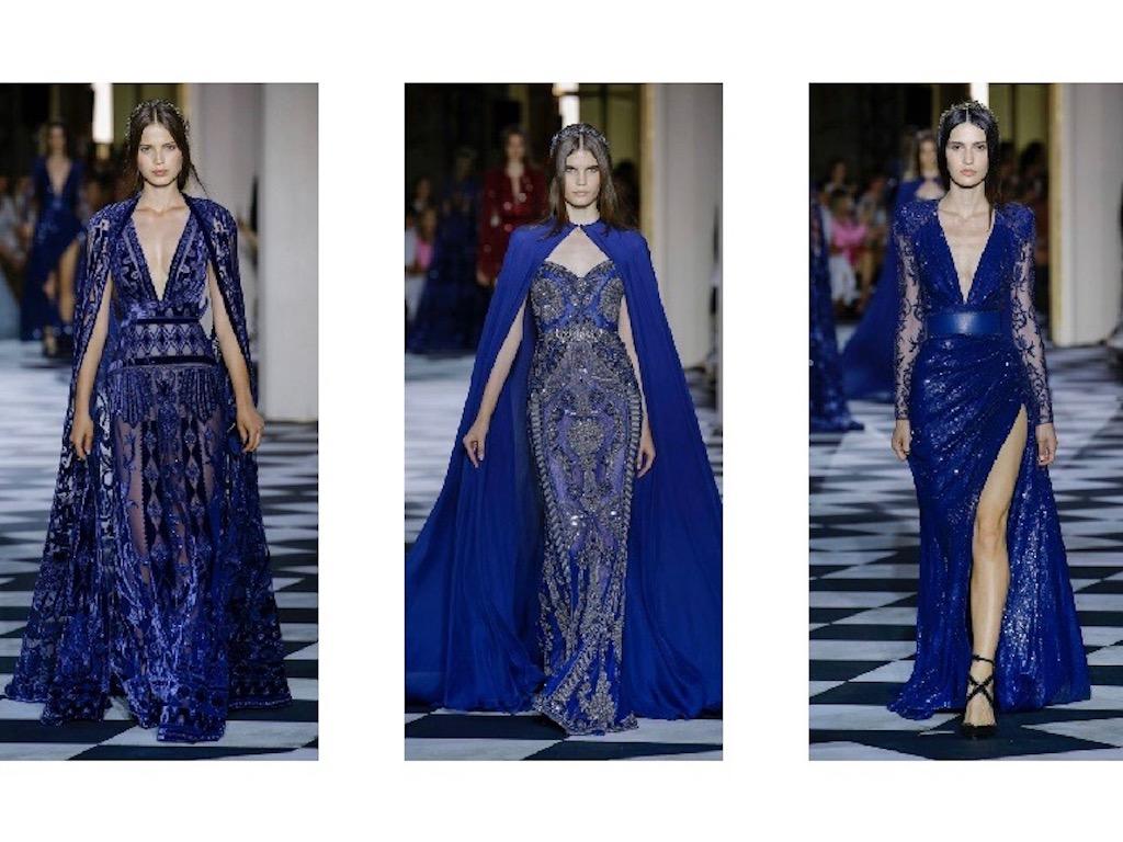 الأزرق النيلي أبرز صيحات الموضة في مجموعة زهير مراد للأزياء الراقية