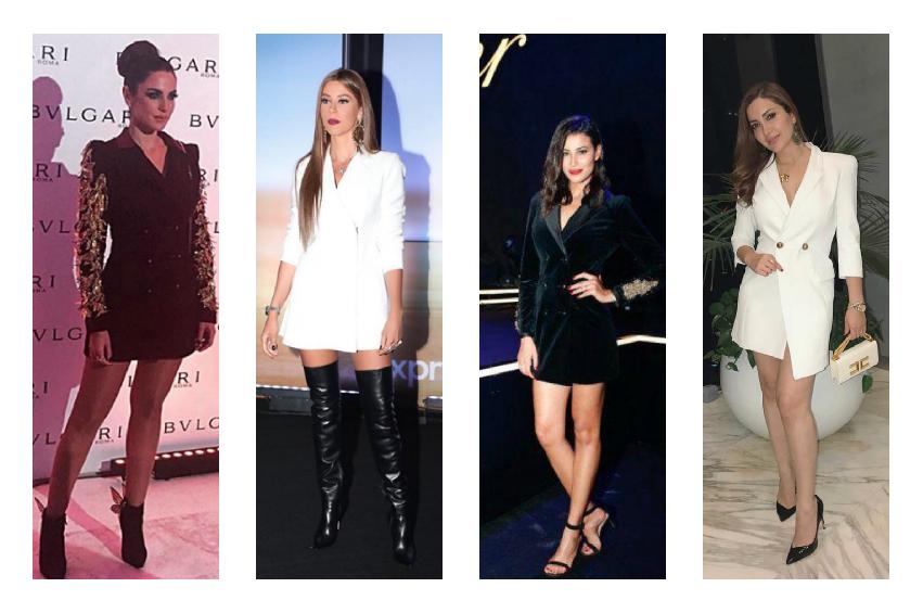 النجمات العربيات في فستان البليزر