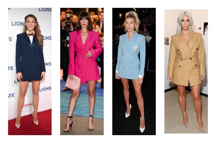 النجمات العالميات في فستان البليزر