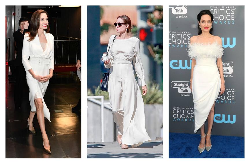 أحدث اطلالات أنجلينا جولي في فستان باللون الأبيض
