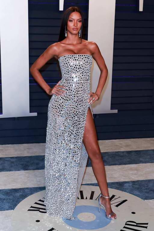ليزا ريبيرو في فستان براق من جورج حبيقة