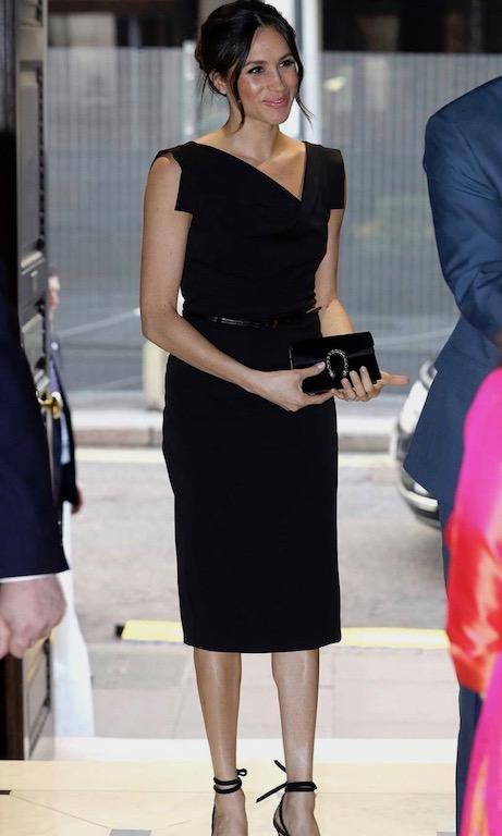 ميغان ماركل في فستان أسود