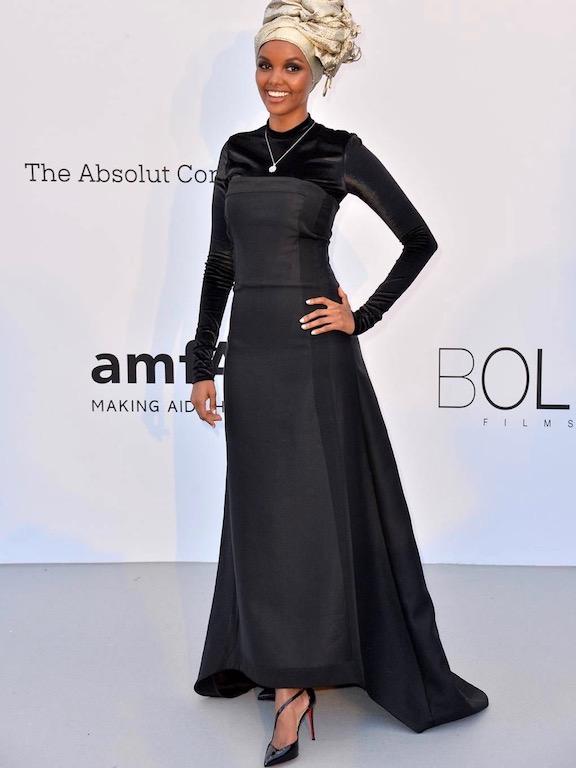 حليمة عدن في فستان أسود