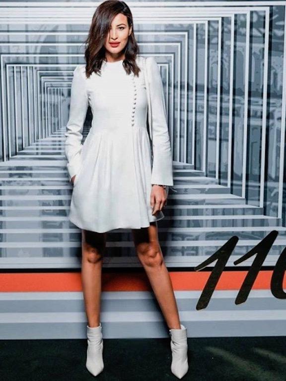 ريم سعيدي في فستان أبيض