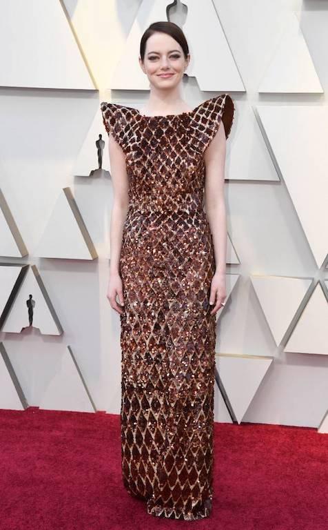 ايما ستون في فستان من لويس فويتون
