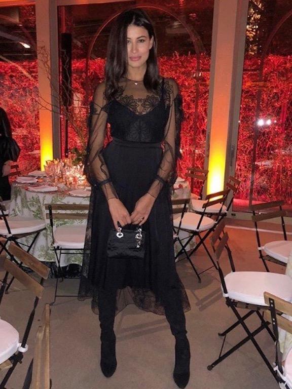 ريم سعيدي في فستان أسود من فندي