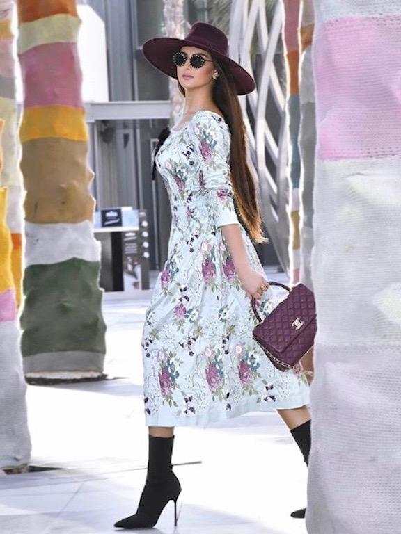 مريم سعيد في فستان معرق