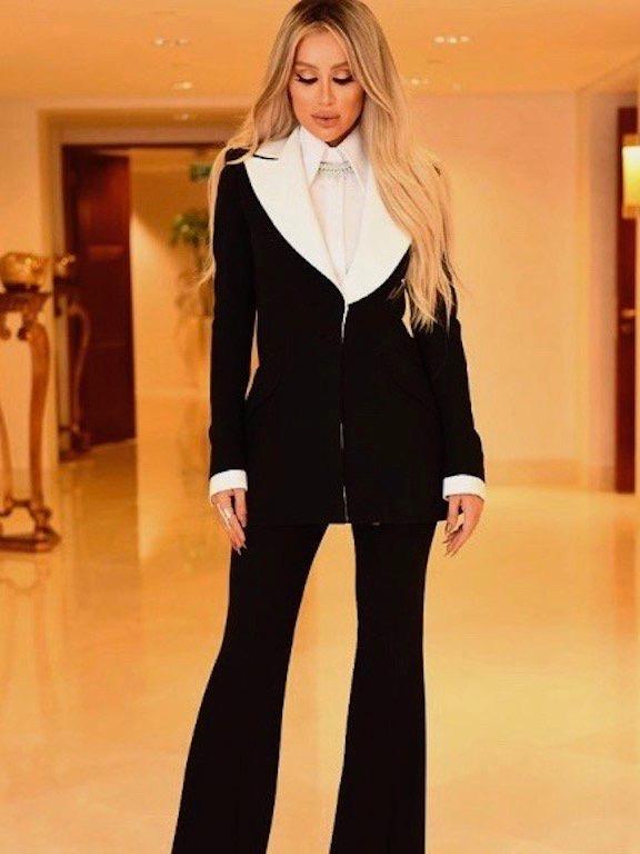 بدلة رسمية باللون الأسود خيار مايا دياب