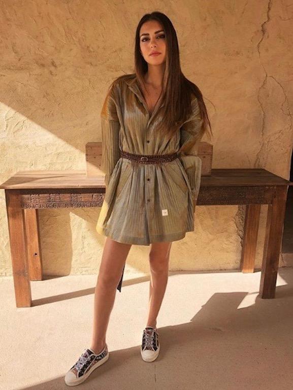 فاليري أبو شقرا في اطلالة صيفية في الفستان القصير