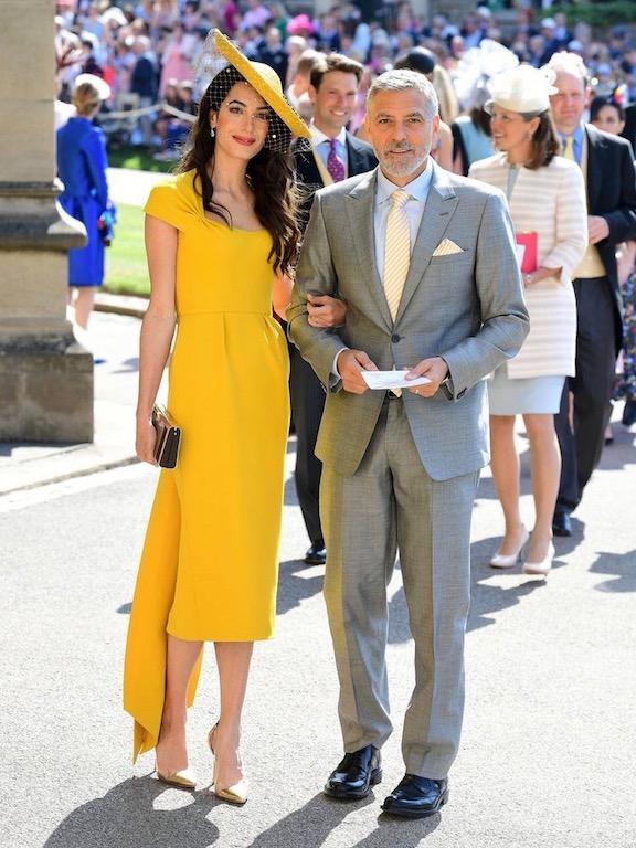 أمل علم الدين في حفل الزفاف الملكي