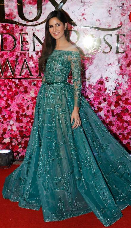 فستان أخضر اختارته كاترينا كيف من زياد نكد