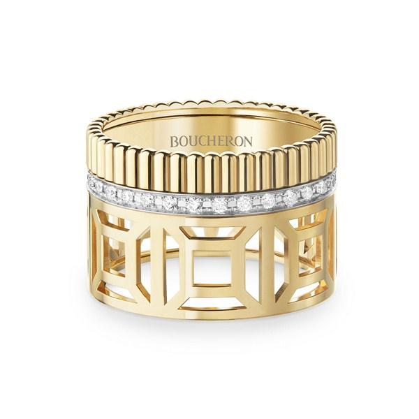 خاتم من الذهب الأصفر والماس