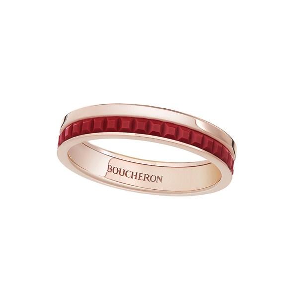 خاتم من السيراميك الأحمر