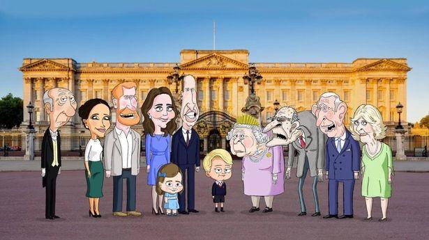 أفراد العائلة المالكة البريطانية ببرنامج الرسوم المتحركة الأمريكي الساخر ذي برنس