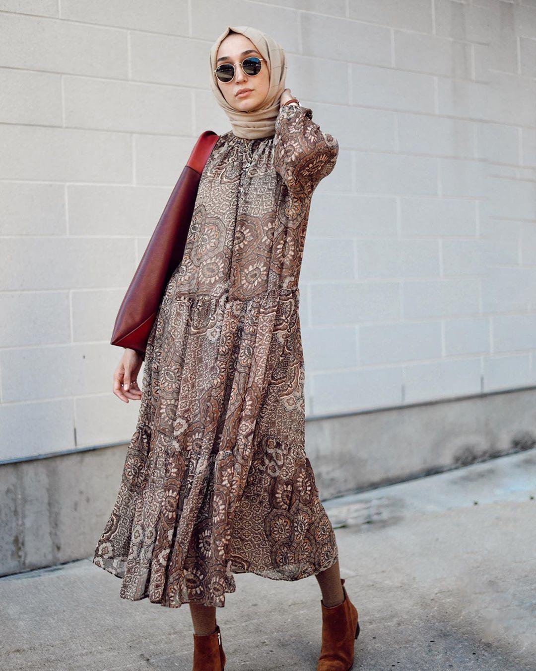 فستان مطبع A Line