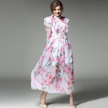 فستان مطبع بالورود
