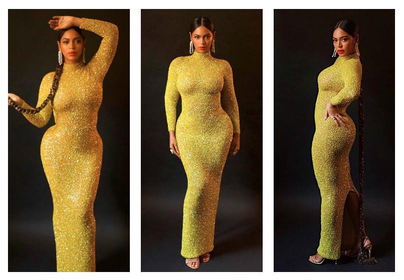 بيونسيه في فستان أصفر من يوسف الجسمي