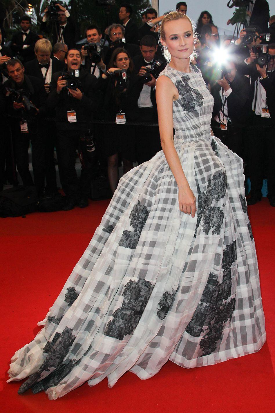 ديان كروغر في فستان من ديور عام ٢٠١٢