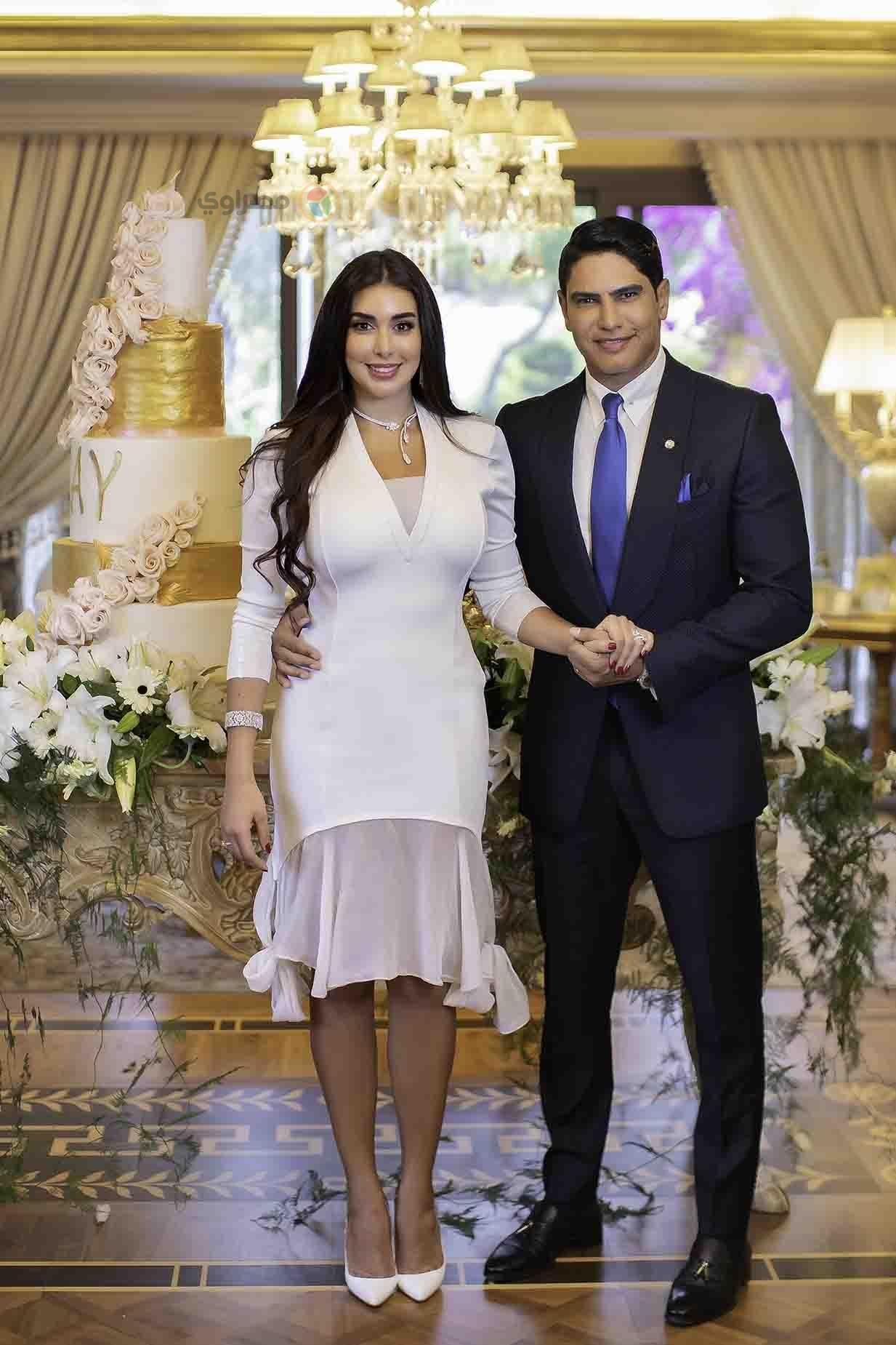 فستان أبيض من جيفنشي اختارته ياسمين صبري لعقد قرانها
