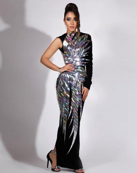 فستان مبتكر من جان لويس صبجي اختارته بلقيس فتحي