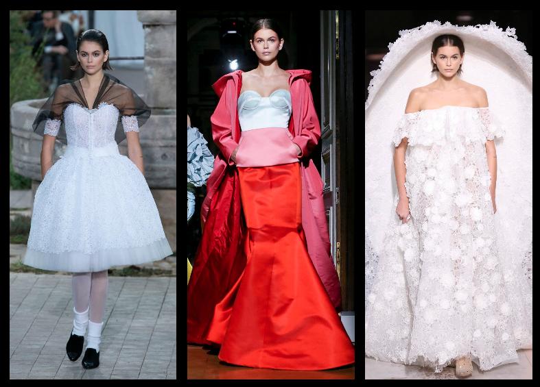 كايا جربر على منصات عروض دور الأزياء في أسبوع باريس للهوت كوتور