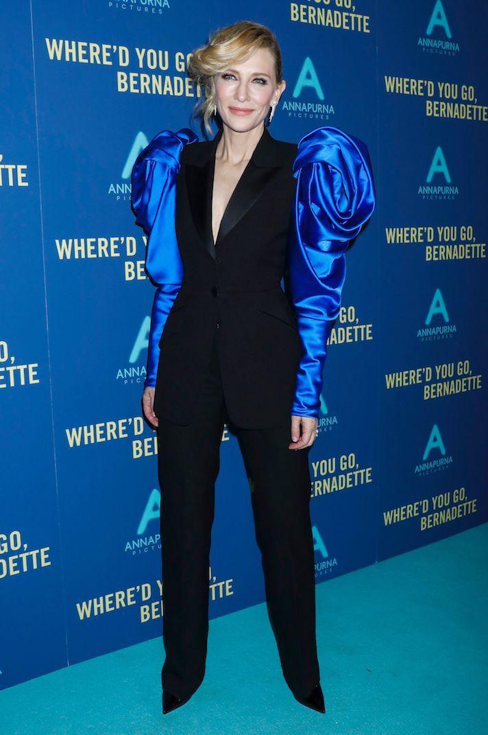 كايت بلانشيت في اطلالة رائعة في بدلة باللون الأسود من الكسندر مكوين