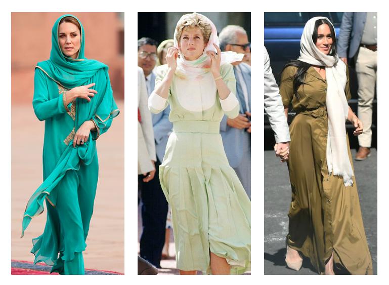 نساء العائلة المالكة في أزياء تقليدية