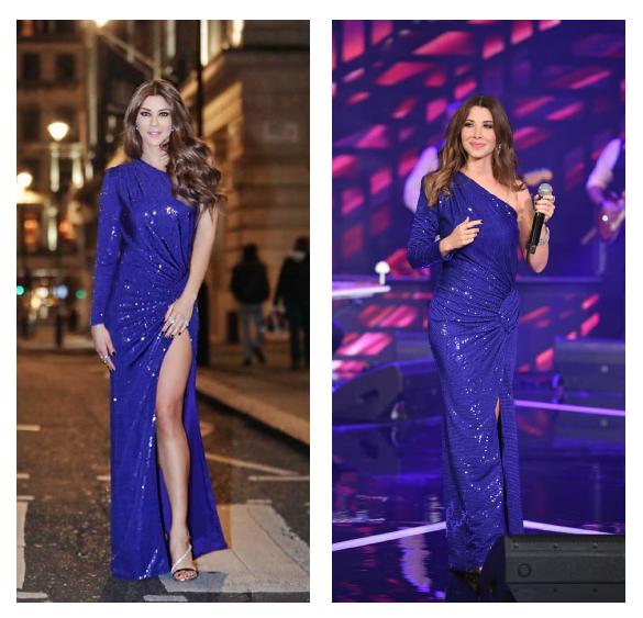 نانسي عجرم وكارلا حداد في فستان من الكسندر فوتييه