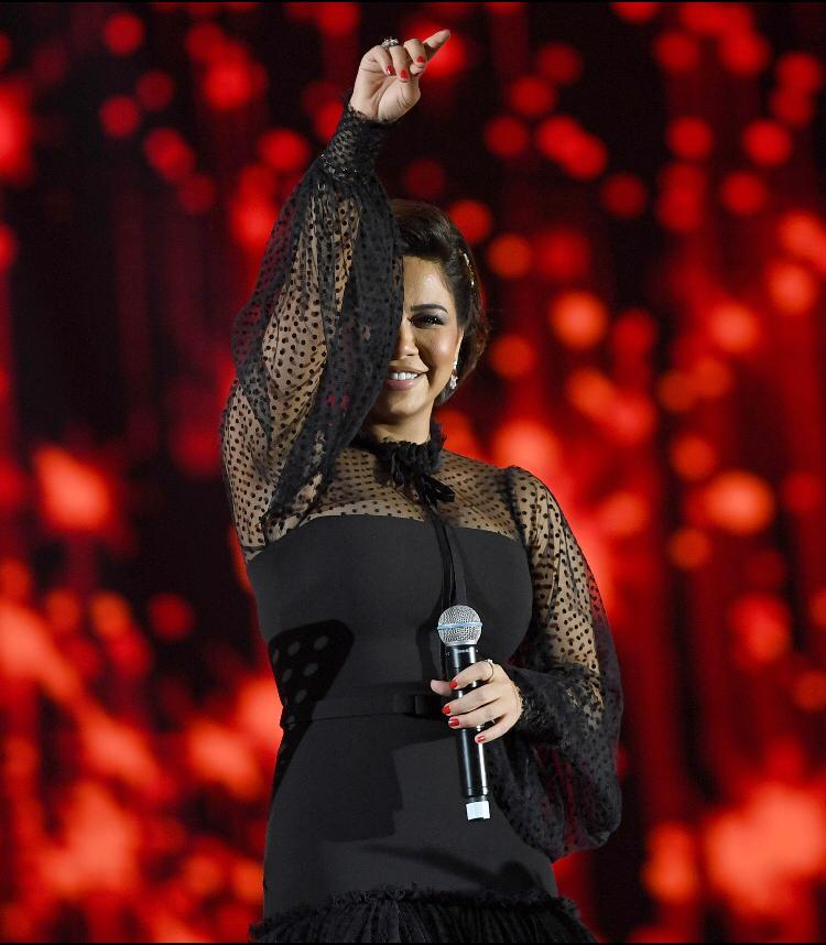 قدمت شيرين شكرها لهيئة الترفية على حفلتها الثانية بموسم الرياض