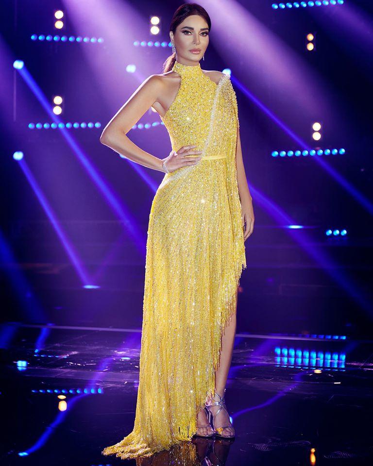 سيرين عبد النور في فستان باللون الأصفر