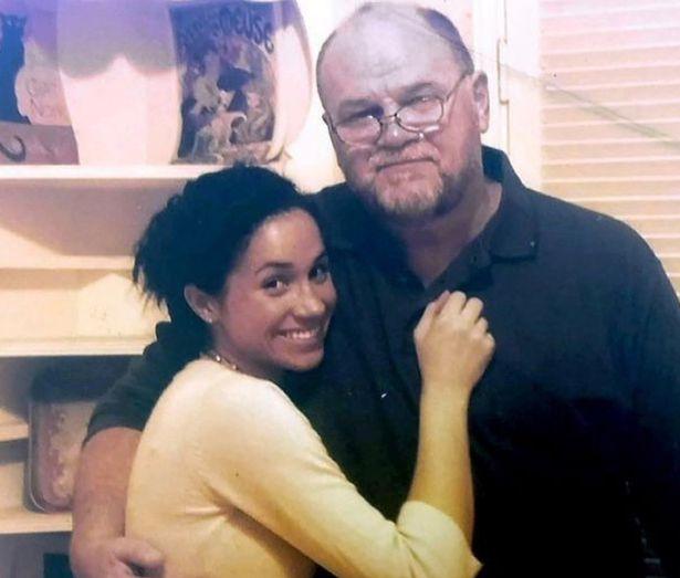 توماس ماركل مع ابنته ميغان