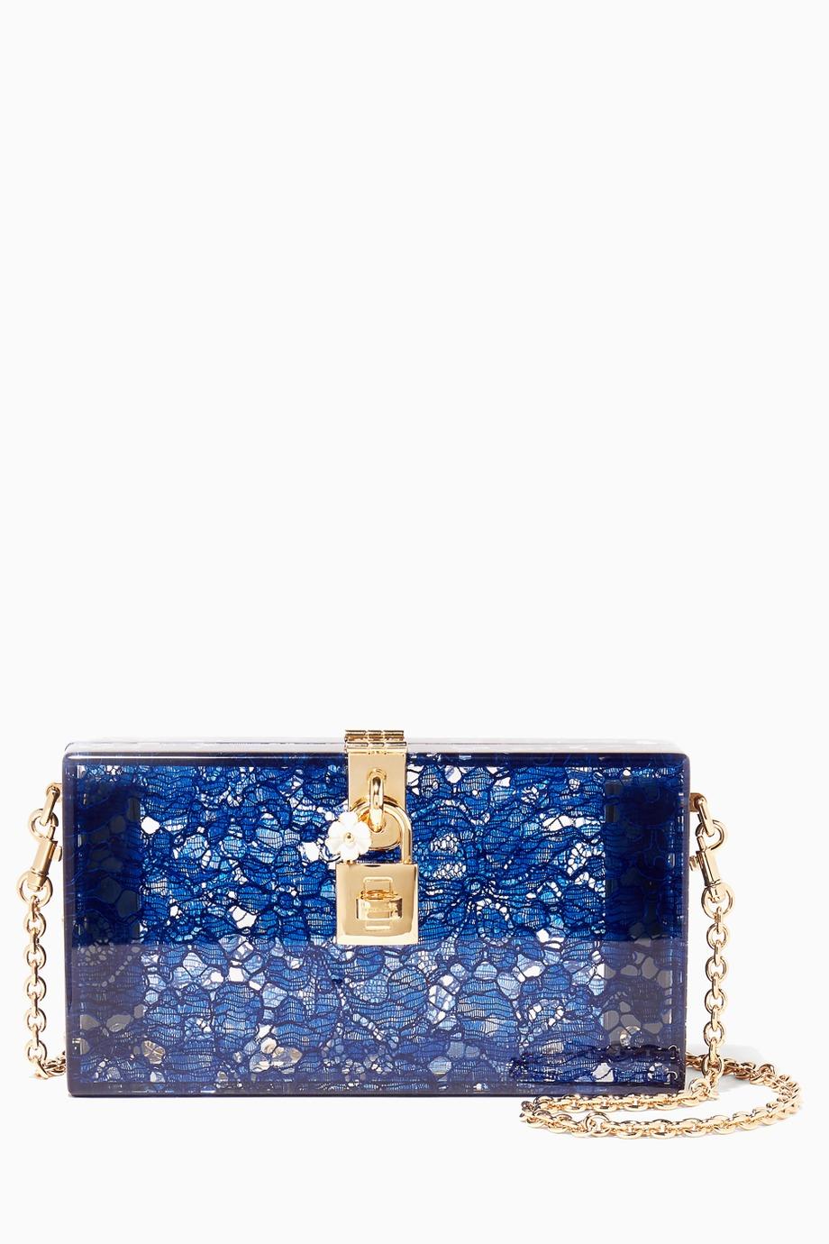- حقيبة كلاتش ملونة من دولتشي اند غابانا Dolce & Gabbana موضة صيف 2019