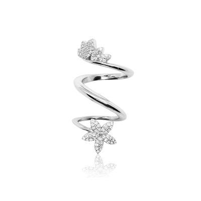 خاتم من الفضة للإصبع بالكامل من سابيافي