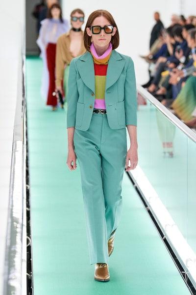 بنطلون باللون الأخضر المائي من غوتشي Gucci