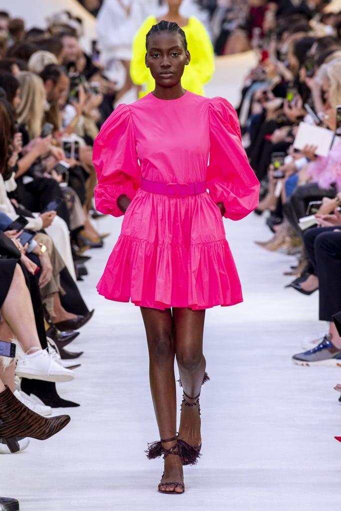 فستان بأكمام منفوخة من فالنتينو Valentino