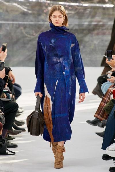 فستان شمواه أزرق من كنزو Kenzo
