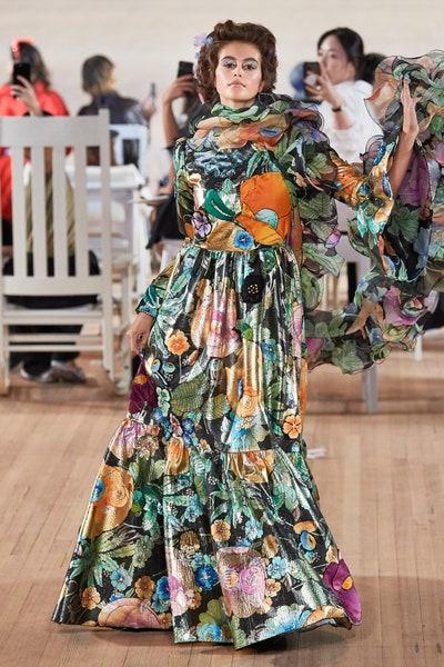 فستان طويل بالطبعات من مارك جيكوبس Marc Jacobs