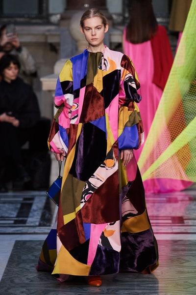 فستان واسع بتصميم باتشوورك من روكساندا Roksanda