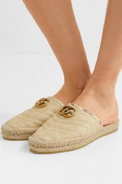 حذاء لوفر من القش من غوتشي Gucci