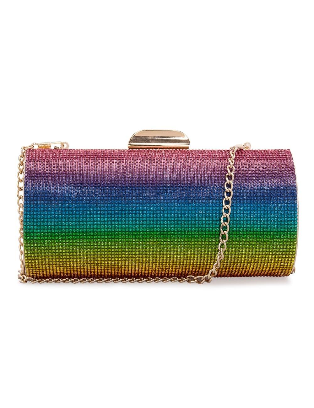 حقيبة كلاتش ملونة من نينا Nina موضة صيف 2019