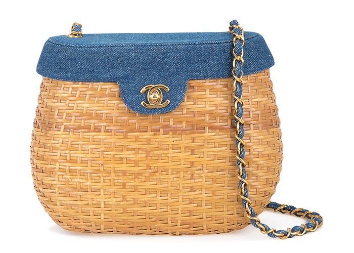 حقيبة قش من شانيل Chanel