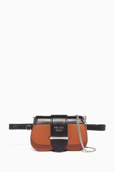 حقيبة سيدوني كروس وخصر من برادا Prada